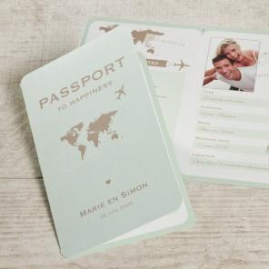 Paspoort kaartje huwelijk