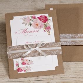 bohemian trouwkaart