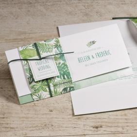 Bohemian trouwkaart groen