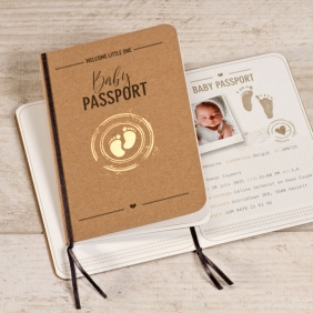 baby paspoort kaartje