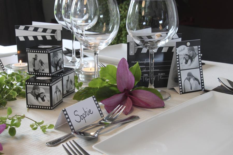 Fleur de feesttafel van je huwelijk op met stijlvolle for Bruiloft versiering zelf maken