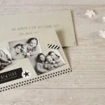 mooie kerstkaart maken met foto zwart wit