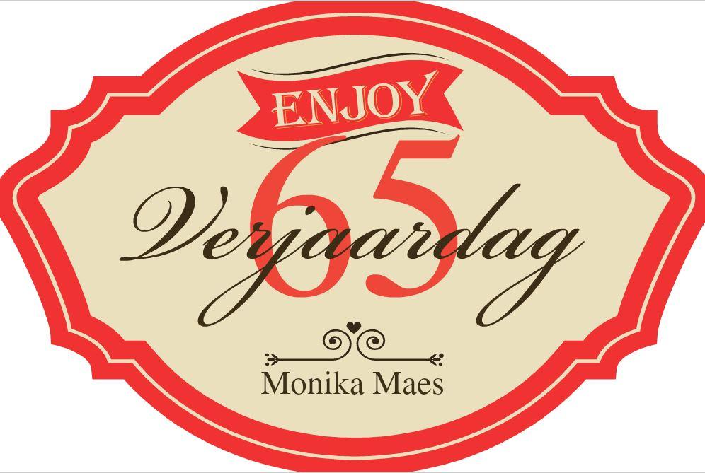 Een Gepersonaliseerde Uitnodiging Voor Je 65ste Verjaardag