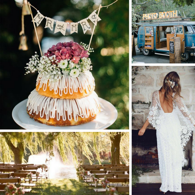 Moodboard bohemian wedding